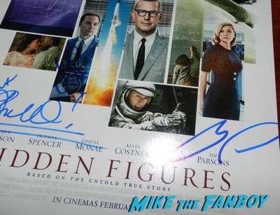 Hidden Figures signed autograph poster