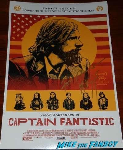 Viggo Mortensen signed autograph captain fantastic poster psa