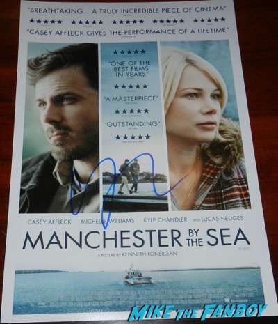 casey affleck signed autograph manchester by the sea poster