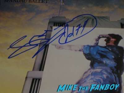 Tony Hadley Spandau Ballet signed autograph album