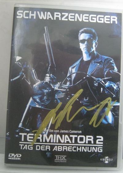 arnold schwarzenegger signed autograph terminator dvd cover