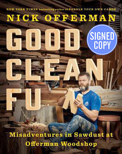 Nick Offerman signed book