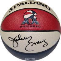 julius Erving signed basketball