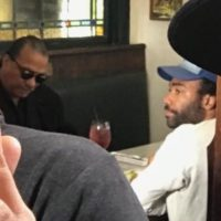 Billy Dee Williams and Donald Glover meet 1