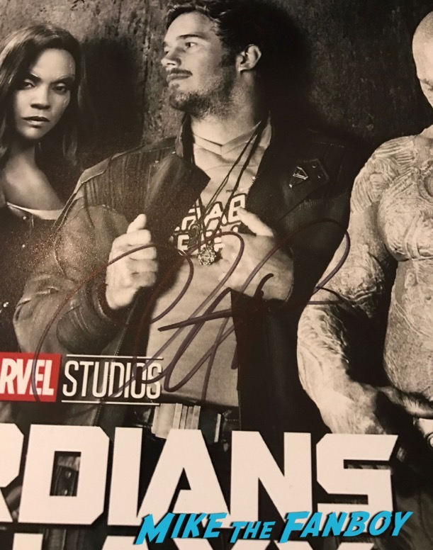 Guardians of the Galaxy vol 2 poster signed by Chris Pratt Autograph PSA