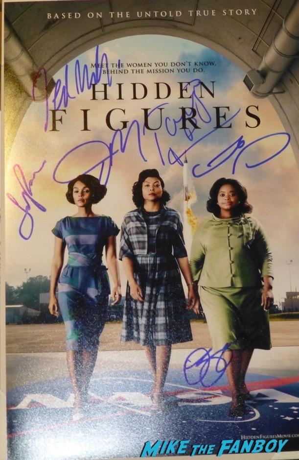 Hidden Figures Cast Signed Autograph Poster Janelle Monáe Octavia Spencer Taraji P. Henson
