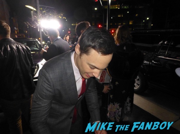 Hidden Figures cast signing autographs Jim Parsons