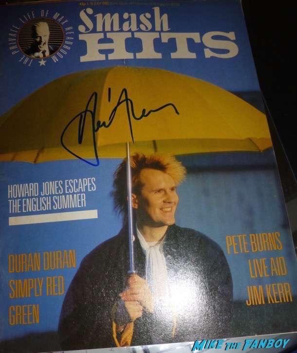Howard Jones signed autograph lp vinyl PSA