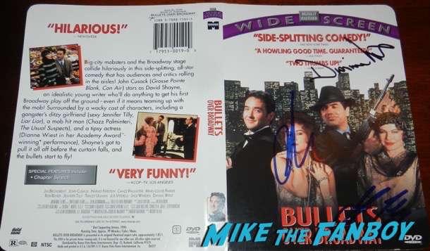 Jennifer Tilly signed autograph Bullets over broadway dvd cover