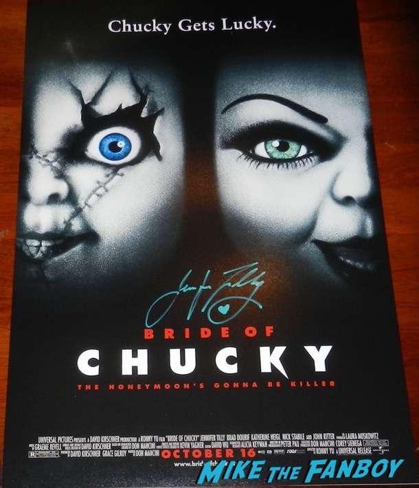 Jennifer Tilly signed autograph Bride of Chucky poster