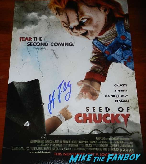 Jennifer Tilly signed autograph Seed of Chucky poster