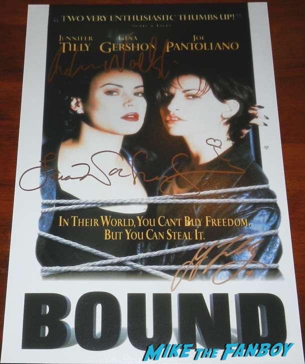 Jennifer Tilly signed autograph Bound poster
