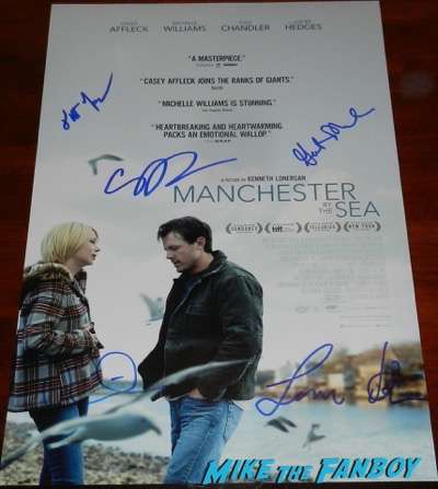 Michelle Williams signed autograph manchester by the sea poster PSA