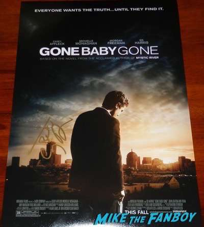 Casey Affleck signed autograph gone baby gone poster PSA
