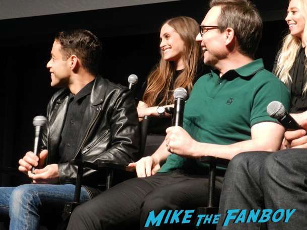 Mr robot q and a meeting fans rami malek christian slater 2