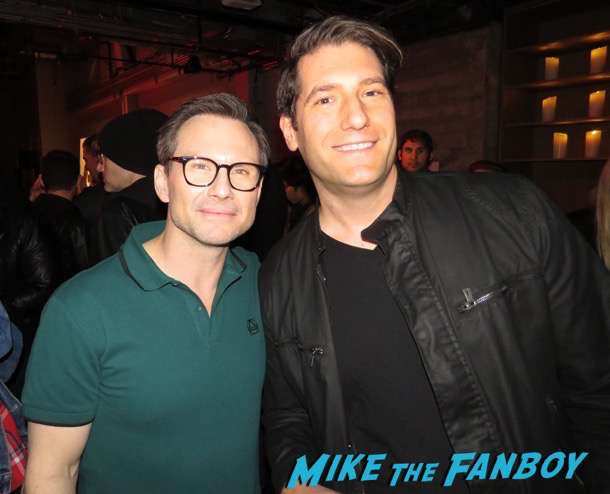 Christian Slater meeting fans signing autographs Mr. Robot q and a
