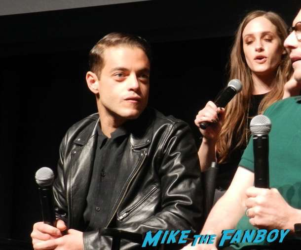 Mr robot q and a meeting fans rami malek christian slater 2