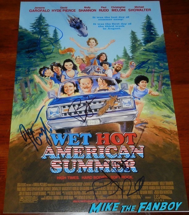 Molly Shannon Signed wet hot american summer poster PSA