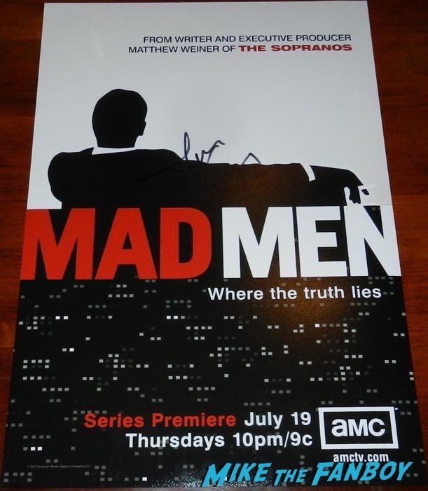 Jon Hamm Signed Mad Men poster PSA