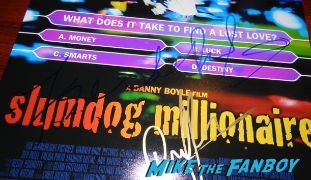 Freda Pinto Signed Slumdog Millionaire poster PSA