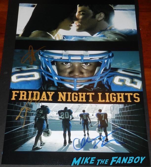 Jesse Plemons Signed Friday Night Lights poster PSA