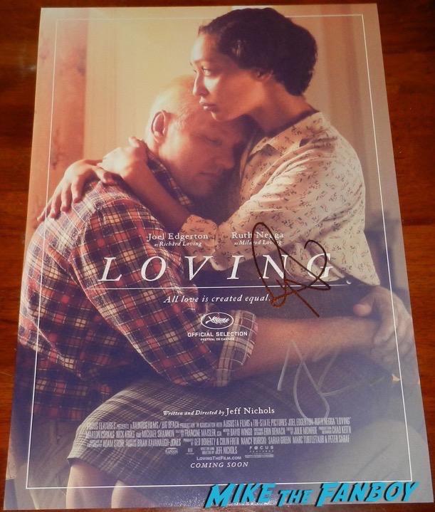 Ruth Negga Signed Loving poster PSA