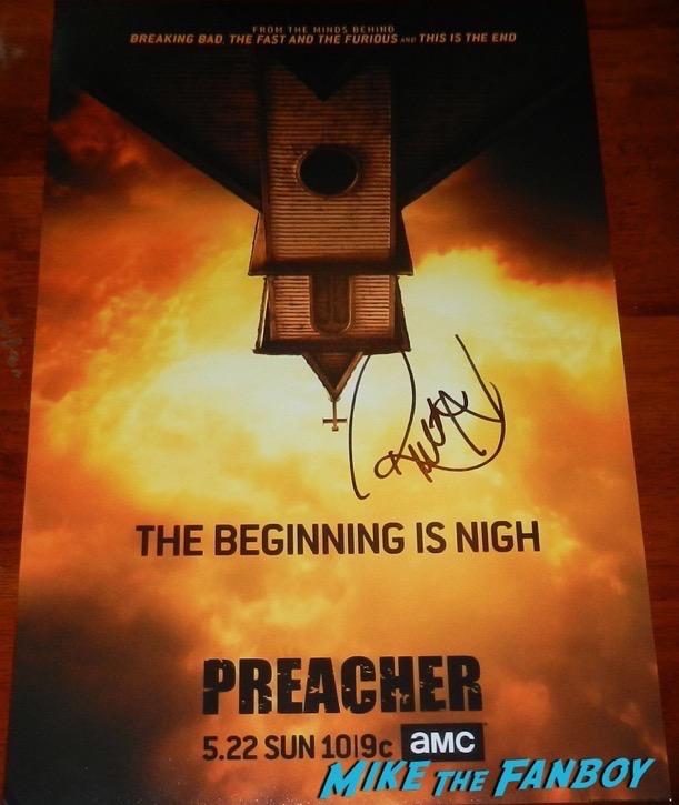 Ruth Negga Signed Preacher poster PSA
