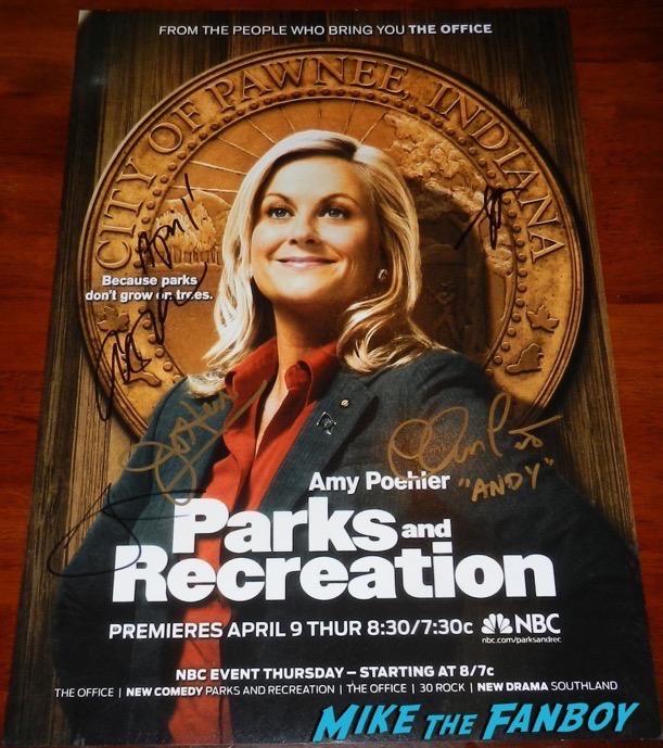 Aubrey Plaza Signed Parks and rec poster PSA