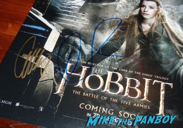 Orlando Bloom signed autograph hobbit poster PSA