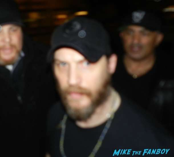 Tom Hardy With Fans signing autographs selfie 1