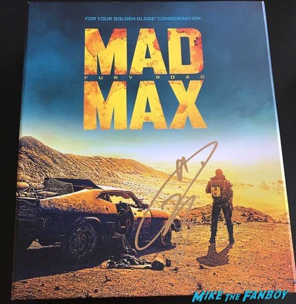 Tom Hardy signed autograph mad max box set golden globes