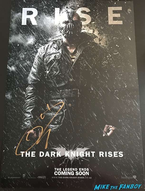 Tom Hardy signed autograph bane character poster dark knight rises