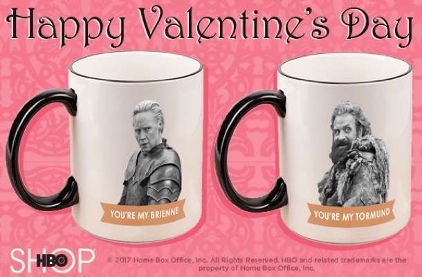 Valentine's Day game of thrones card
