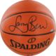 Larry Bird signed basketball