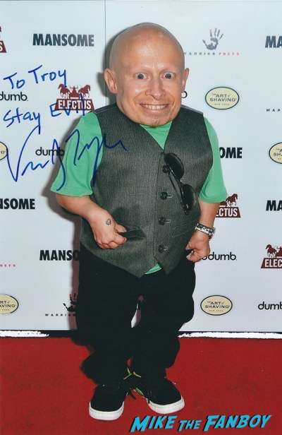verne troyer signed autograph photo psa