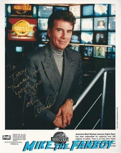 john walsh signed autograph photo psa fanmail ttm