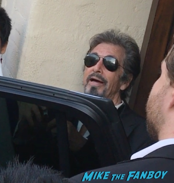 Al Pacino signing autographs god looked away pasadena playhouse 1