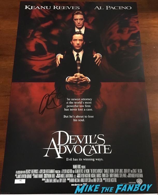 Al Pacino signed autograph Devil's Advocate poster psa