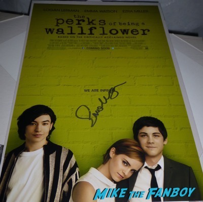 Emma Watson signed autograph perks of being a wallflower signed poster