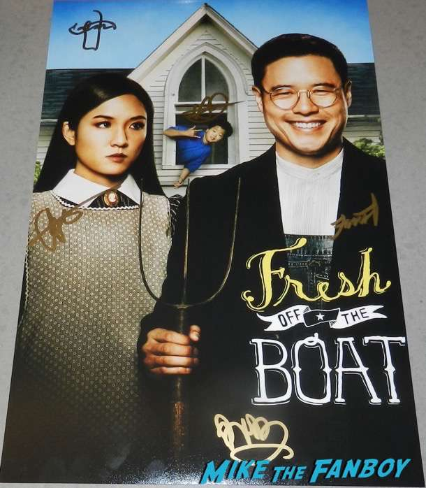 Fresh Off The Boat signed autograph season one poster constance wu hudson yang psa