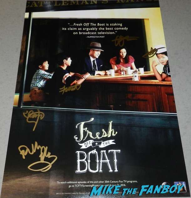 Fresh Off The Boat signed autograph season two poster constance wu hudson yang psa