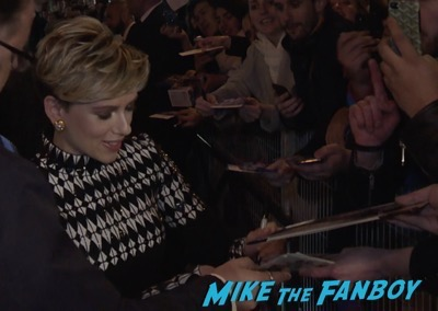 Scarlett Johansson signing autographs Ghost in the Shell Paris Premiere Scarlett Johansson signing autographs 19