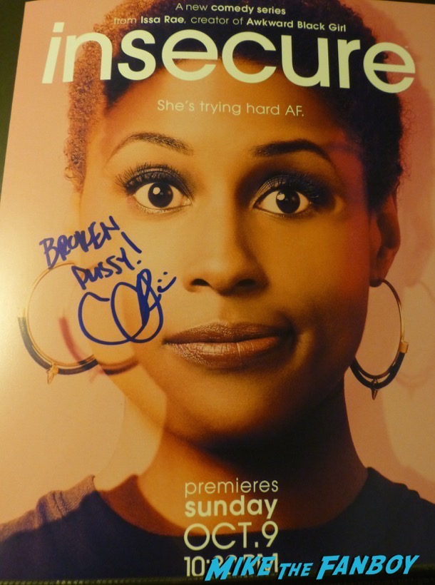 Issa Rae signed autograph insecure poster psa