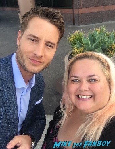 Justin Hartley meeting fans signing autographs
