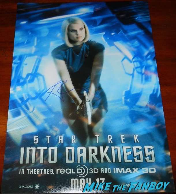 Star Trek Into Darkness poster signed autograph alice even character poster psa