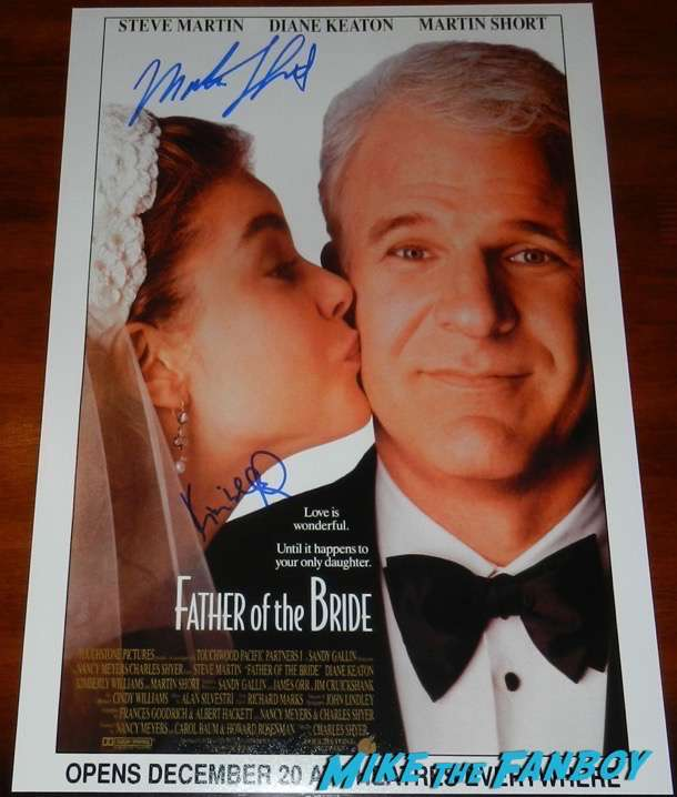 martin short signed autograph father of the bride poste psa