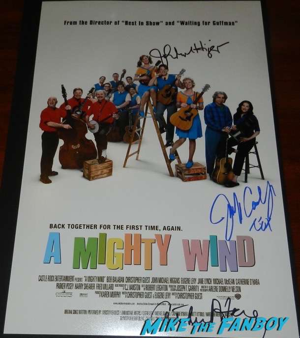 catherine o'hara signed autograph a mighty wind poster psa