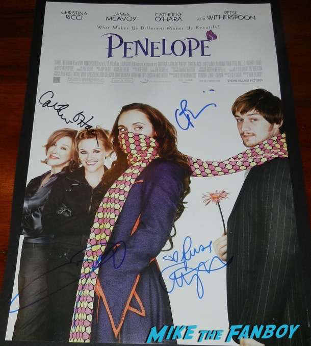 catherine o'hara signed autograph penelope postre psa