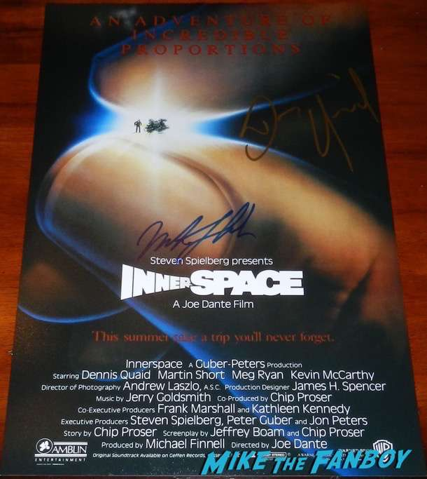 martin short signed autograph innerspace poste psa