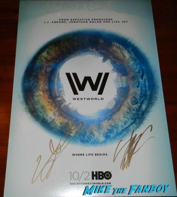 westworld cast signed autograph poster shannon woodward psa